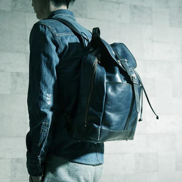 モブリス Aniline Leather Rucksack