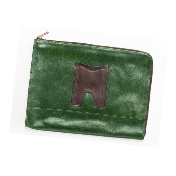 モブリス Aniline Leather Clutch Bag