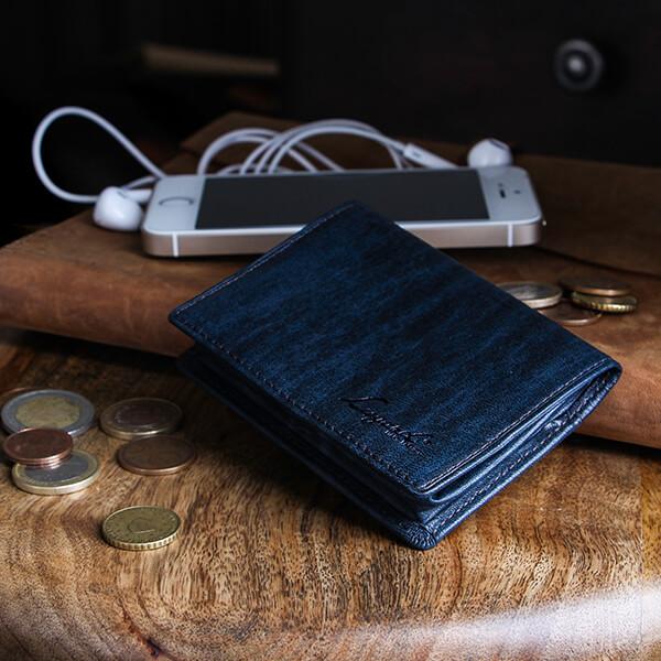 ラガードのコインケース G-3 ボックス型小銭入れ ネイビー