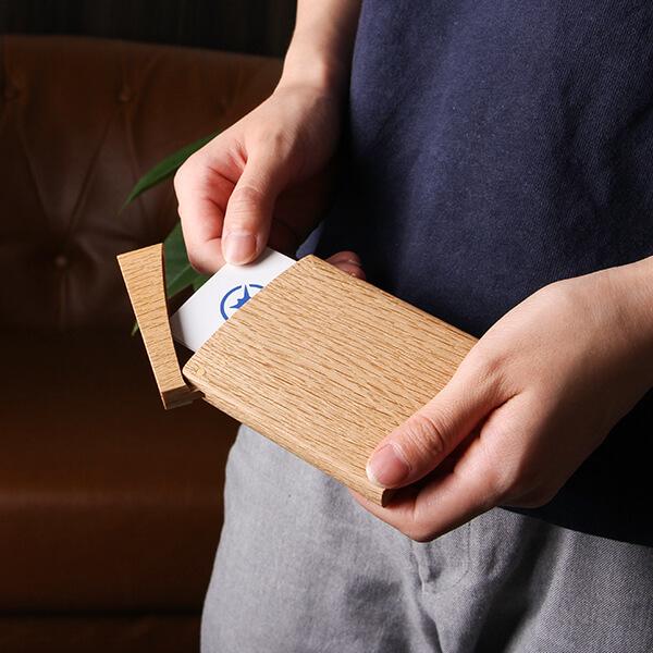 オークヴィレッジ 印籠 木製カードケース ナチュラル