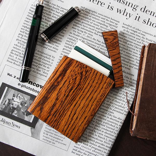 オークヴィレッジ 印籠 木製カードケース