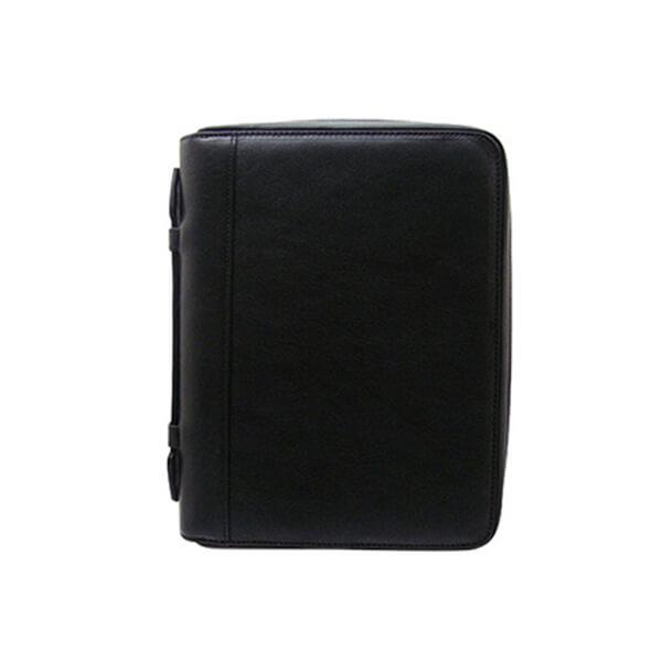 ダクトの手帳カバー 牛革シュリンク ラウンドファスナー・A5サイズ6穴システム手帳