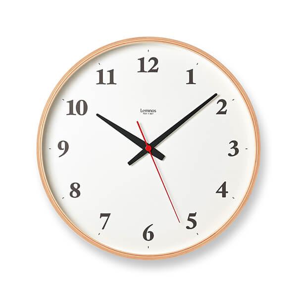 レムノス Plywood clock 電波時計 掛け時計 大型