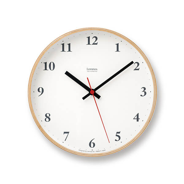 レムノス Plywood clock