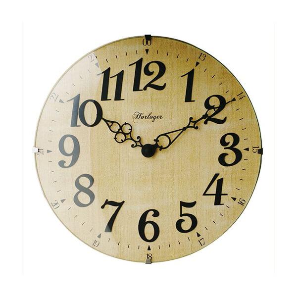 インターフォルム LETRA レトラ 電波時計 壁掛け時計