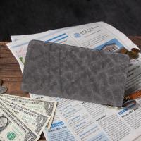 ゾウ革の質感を楽しめる大人向けの長財布です