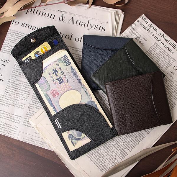 カルトラーレ 薄い二つ折り財布 フラットウォレット cartolare
