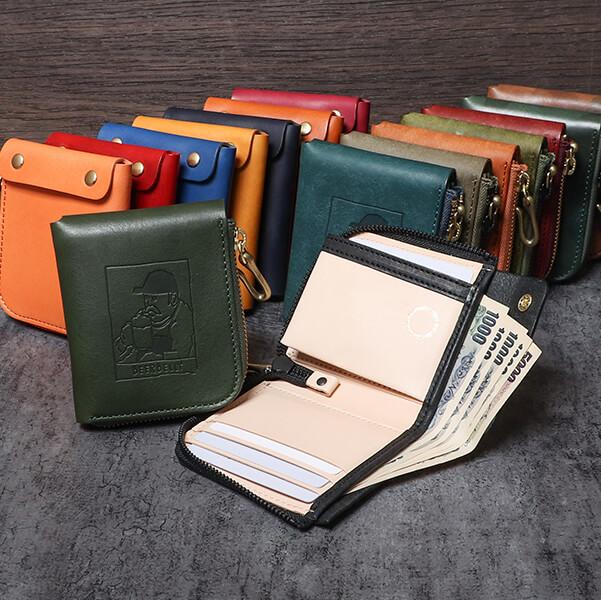 ビアベリーの二つ折り財布 SMALL ROUND WALLET