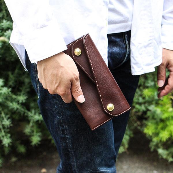 ビアベリーの財布 Dフラップ長財布