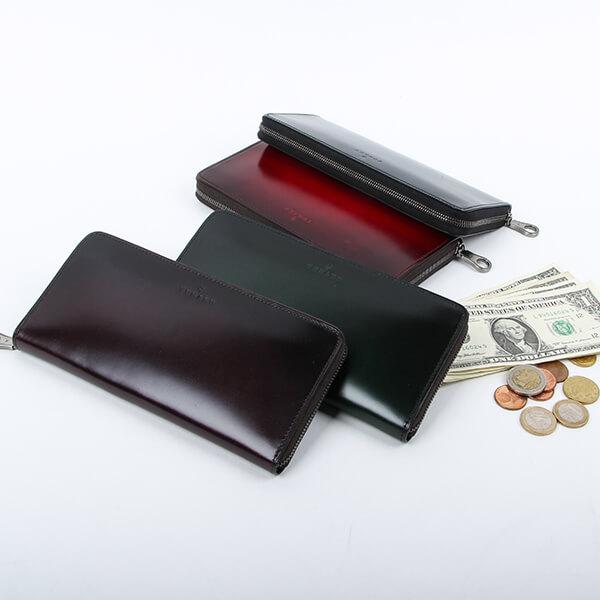 ユハク コードバン ラウンドファスナー財布