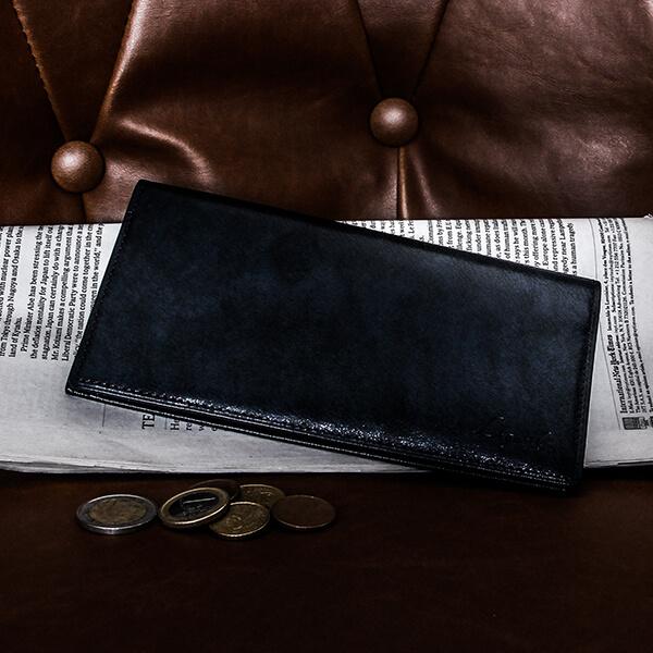 ラガードの長財布 G-3 ファスナーポケット付き長財布 ネイビー